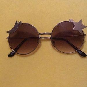 Moon and Star Circle Sunglasses